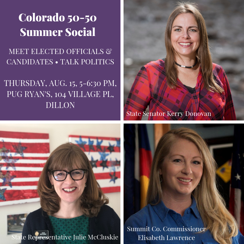 event details and photos of three elected women officials